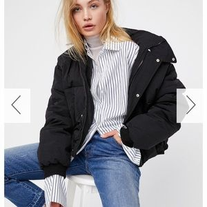 Black cold rush free people puffer jacket